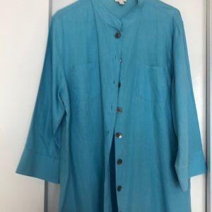 J Jill tunic linen jacket or blouse